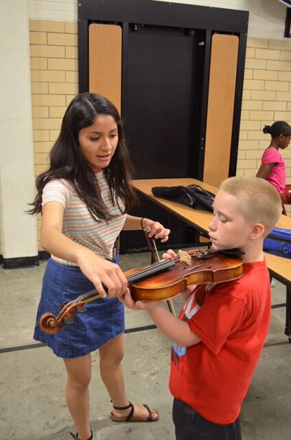 test out violin
